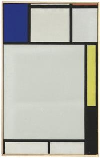 composition avec bleu, rouge, jaune et noir by piet mondrian