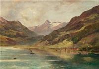 zell am see mit blick auf das kitzsteinhorn by adolf obermüllner