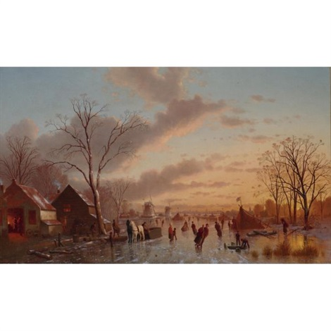 skating at twilight by johann mongels culverhouse