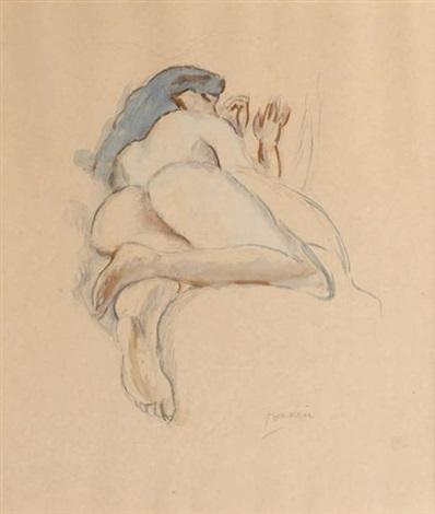 femme nue endormie by jules pascin