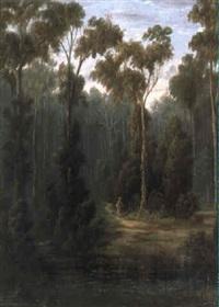 figures in landscape by william short sr.