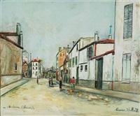une rue à nanterre by maurice utrillo