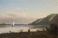 view of the river dnieper by petr petrovich vereshchagin