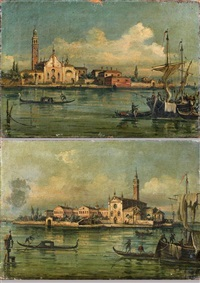 vues de venise (pair) by canaletto