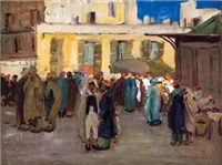 street scene, biskra by jane peterson
