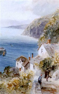 clovelly bay by alfred leyman