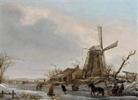 les joies d'hiver by francois joseph pfeiffer the younger