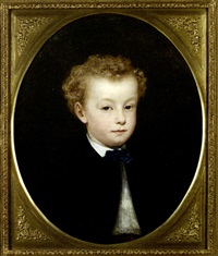 portrait d'enfant by albert f.a. laurens