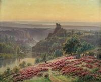 bruyères en fleurs, matinée d'août à châteaubrun by gaston anglade