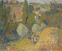 paysage à la charette by joseph louis lépine