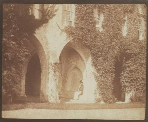 the ancient vestry the reverend calvert r jones in the cloisters lacock abbey by william henry fox talbot