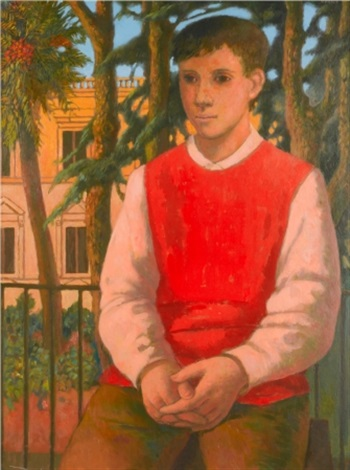 portrait of a young man by justin maurice obrien
