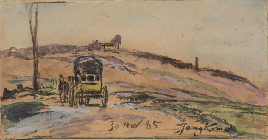 la diligence environs de la côte saint andré by johan barthold jongkind