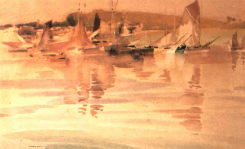 tunny boats concarneau by francis murray russell flint