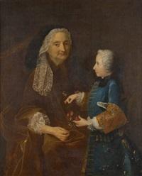 portrait de dame anne lochereau et de auguste simon brillant, âgé de 6 ans by jean-martial fredou