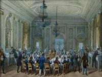 scène de banquet officiel by alessandro sanquirico