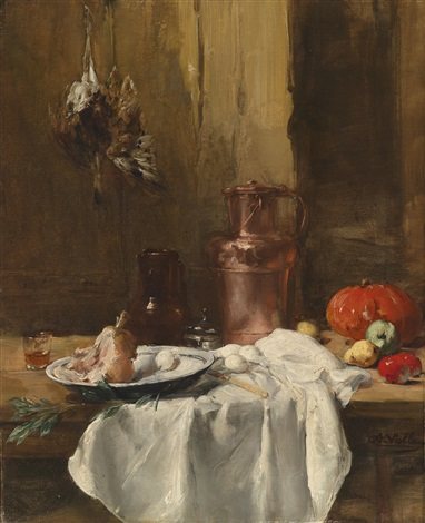 küchenstillleben by antoine vollon