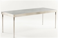 inox table by jean nouvel