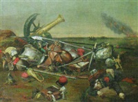 battle scene by jean-charles (col.) langlois