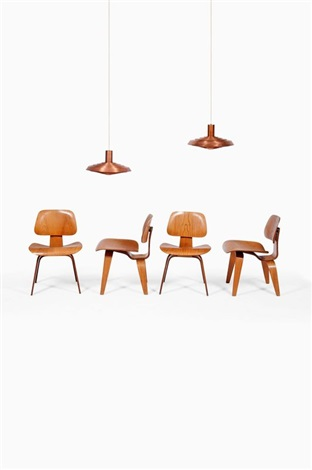 Chaises Modèle Dining Chair Wood (set Of 4) By Charles Eames
