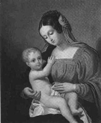 madonna mit kind by friedrich reinhold the younger