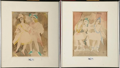 danseurs 2 works by marie laurencin
