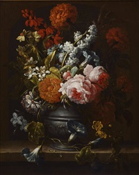 two still lifes (2 works) by gaspar pieter verbrüggen the elder