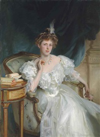 mrs. william george raphael by john singer sargent