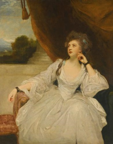portrait of elizabeth falconer mrs stanhope as contemplation by joshua reynolds