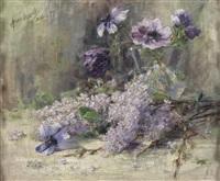 anemonen und flieder by angelica von lepell