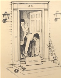 welcome by norman rockwell