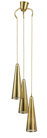 three light pendant lamp by mauri almari