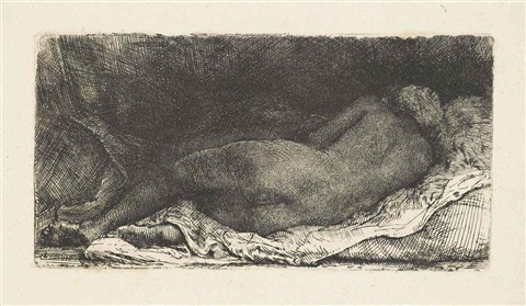 negress lying down by rembrandt van rijn