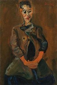 portrait d'un jeune homme by chaïm soutine