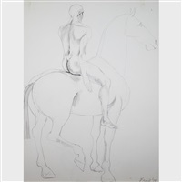 man on horse v by elisabeth frink