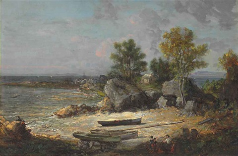 oysterman's hut by george loring brown
