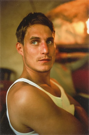 clemens at lunch at café de sade lacoste france by nan goldin