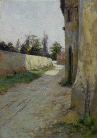 viottolo di paese by adolfo tommasi