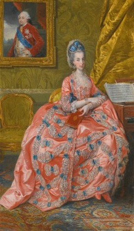 portrait of the archduchess maria amalia of austria duchess of parma by johann joseph zoffany