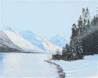 october snow, spray lake by ted raftery