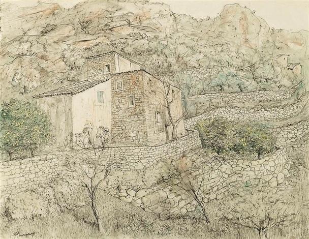 the farmhouse, majorca by lloyd frederic rees