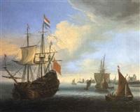 marine avec vaisseaux de haut bord by jacob knyff