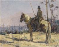 ulan auf pferd by hans hoernigk