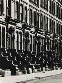 westside brownstones, new york by evelyn hofer