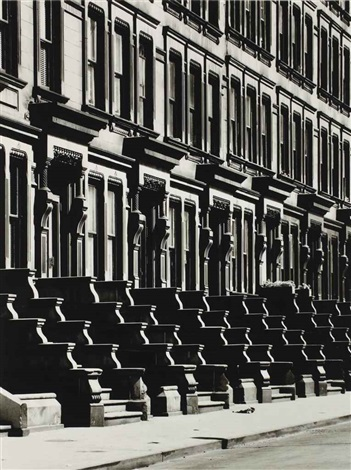 westside brownstones new york by evelyn hofer