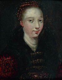portrait de jeune femme dit portrait d'isabelle de france by wolfgang heimbach