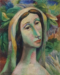 head of a woman by mario carreño