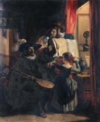 le concert familial by camille joseph etienne roqueplan
