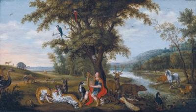 landschaft mit orpheus unter den tieren by isaac van oosten