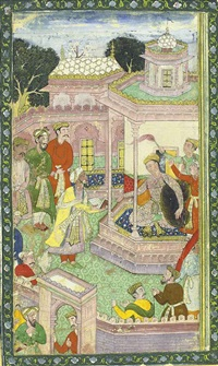 album page with two miniatures (double-sided) by anonymous-indian-mughal (16)